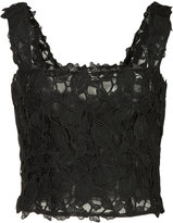 Monique Lhuillier lace cropped top