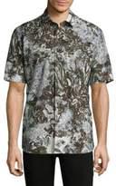 Brioni Jungle Cotton Button-Down Shirt