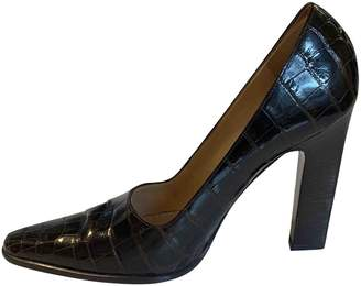 Celine Brown Crocodile Heels
