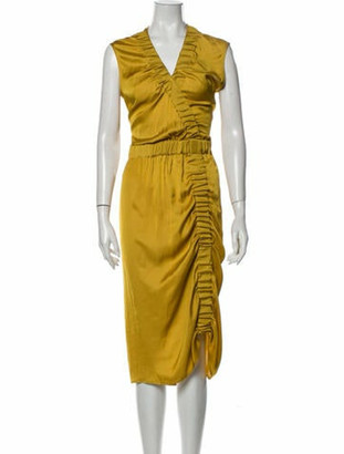 Zero Maria Cornejo V-Neck Long Dress w/ Tags Yellow