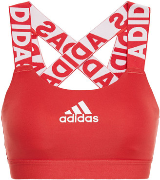 adidas Monogram-trimmed Stretch Sports Bra