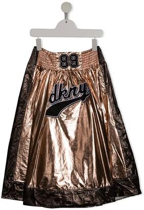 DKNY TEEN metallic A-line skirt