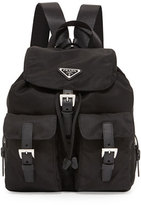 Prada Vela Small Two-Pocket Backpack, Black (Nero)