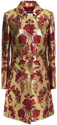 Dolce & Gabbana Metallic Floral-jacquard Coat