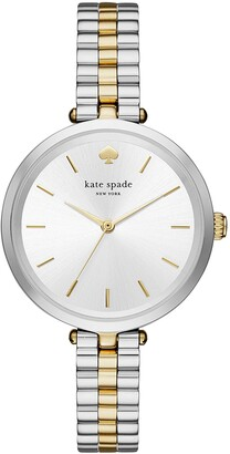 Kate Spade Women's Holland Quartz Stainless Steel Three-Hand Dress Watch Color: Silver/Gold (Model: KSW1119)