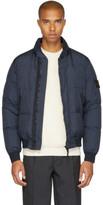 Stone Island Blue Down Puffy Jacket