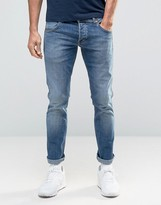 Wrangler Low Rise Slim Leg Jean In Blue What Blue Wash
