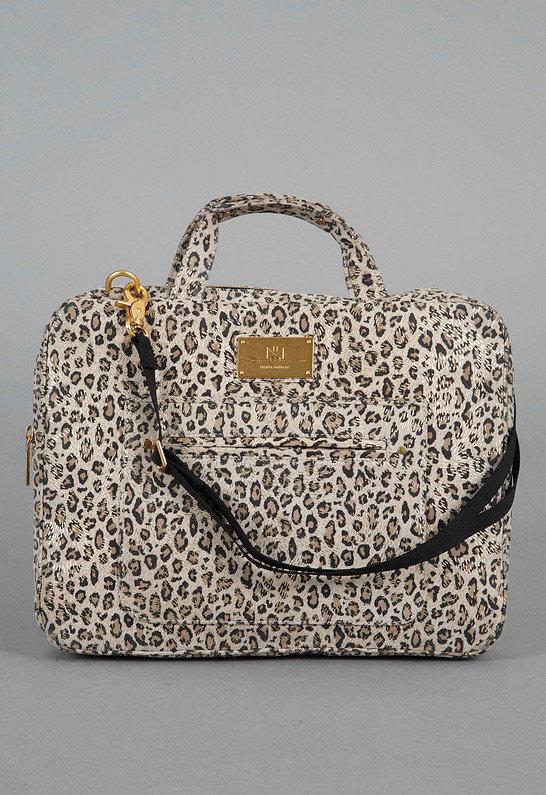 Rebecca Minkoff New Virginia Laptop Case in Nude Cheetah -