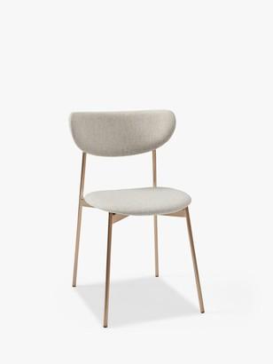 west elm Modern Petal Upholstered Dining Chair, Natural