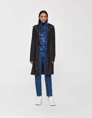 Rains Women's Tailored Rain Coat in Black, Size Small/Medium