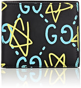 Gucci Men's GucciGhost-Print Billfold-BLACK