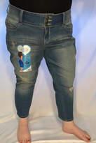 YMI Jeanswear Denim Distressed Flood