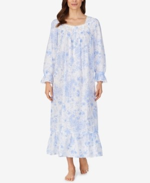 Eileen West Cotton Floral-Print Nightgown