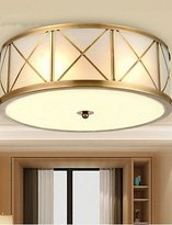 Ceiling lamp ZQ ZQ Creative personality Full Copper Lamp Dining Room Lamp Bedroom Balcony Aisle Lamp D , warm white-110-120v