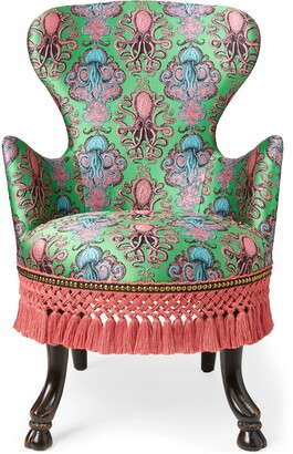 Gucci Octopus jacquard armchair