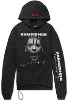 Vetements + Rammstein Oversized Printed Cotton-blend Jersey Hoodie - Black