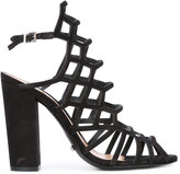 Schutz block heel caged sandals - women - Leather - 36