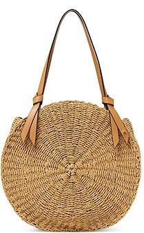 Etienne Aigner Luca Large Round Straw Beach Tote