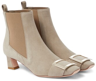 Roger Vivier Chelsea Trompette suede ankle boots
