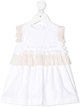 Il Gufo Ruffled Party Dress