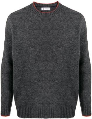 Brunello Cucinelli Trim-Detail Knitted Jumper