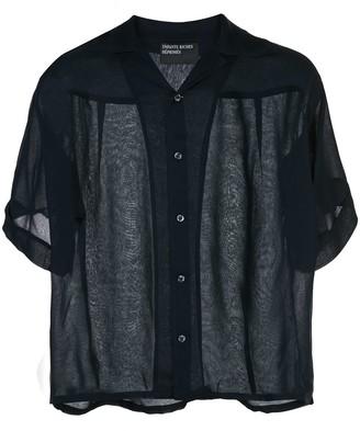 Enfants Riches Deprimes sheer short-sleeved shirt