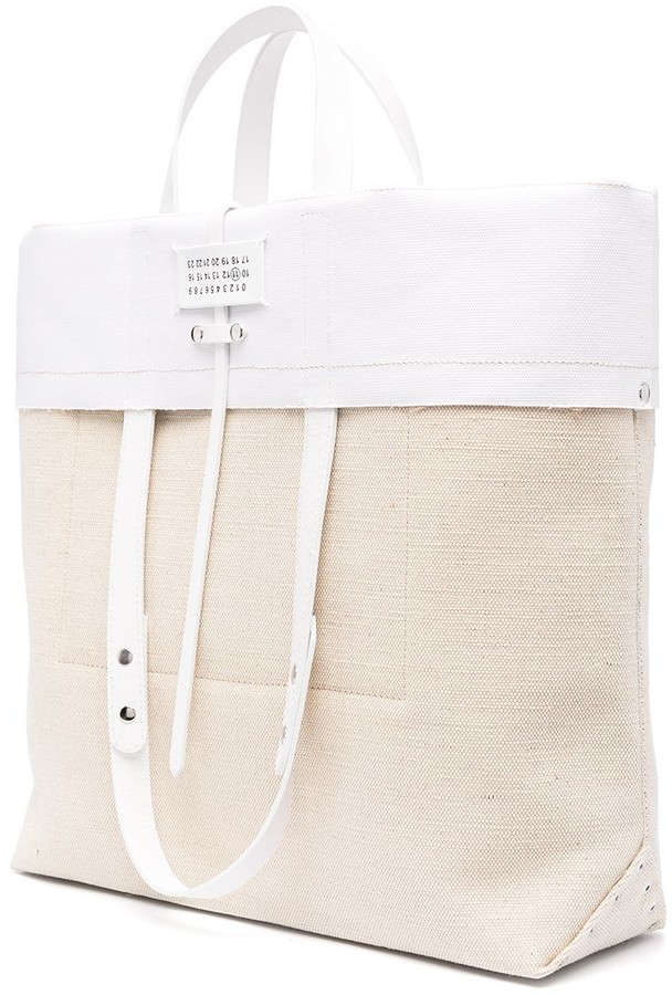 Thumbnail for your product : Maison Margiela Logo Foldover Tote Bag