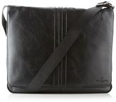Jeff Banks Designer Black Applique Striped Shoulder Bag