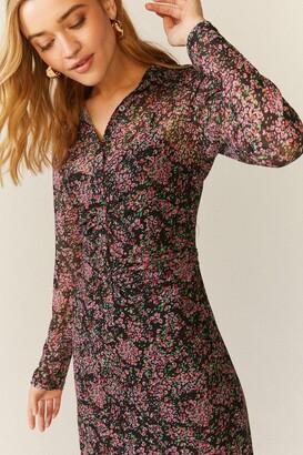 Coast Mesh Button Detail Shirt Dress