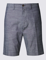 M&S Collection Pure Cotton Tailored Fit Chambray Shorts