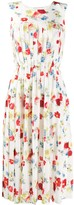 Ermanno Scervino sleeveless pleated floral print dress