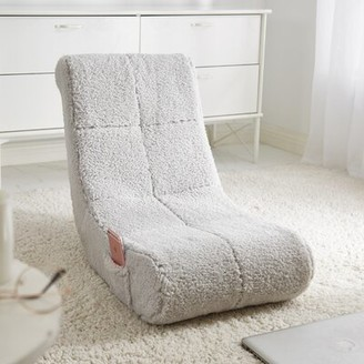 Ebern Designs Sherpa Floor Game Chair Color: Gray