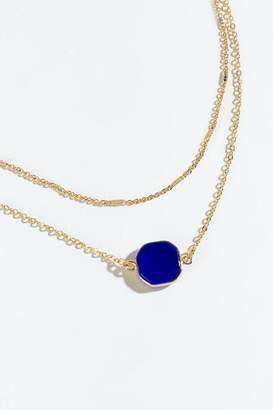 francesca's Angela Semi Precious Layered Necklace - Cobalt