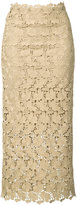 Robert Rodriguez mid-length lace skirt - women - Polyester - 0