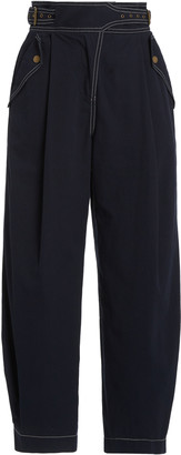 Ulla Johnson Dune Pleated Wide-Leg Pants