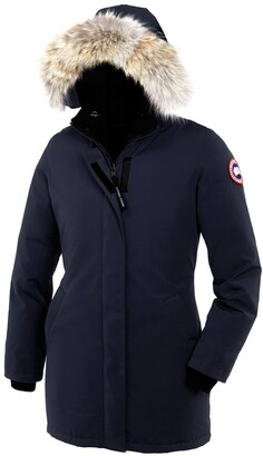 Canada Goose Victoria Down Parka with Genuine Coyote Fur Trim