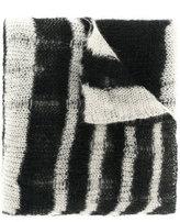McQ striped knit scarf