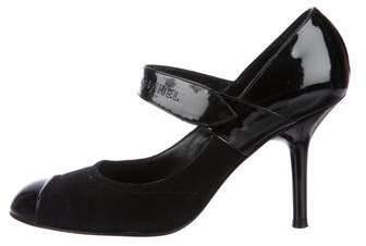 Chanel Cap-Toe Mary Jane Pumps