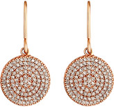 Astley Clarke Icon 14ct rose gold diamond drop earrings