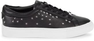 J/Slides Liberty Embellished Leather Sneakers