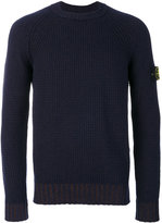 Stone Island ribbed knit jumper - men - Cotton/Polyamide - S