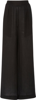 Anémone The Keaton Wide Leg Pant In Fine Gauge Ramie Linen