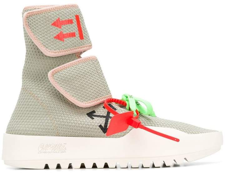 Off-White Moto wrap stretch knit trainers