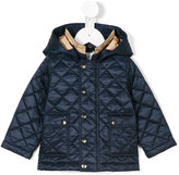 Burberry hooded padded jacket - kids - Cotton/Polyester - 9 mth