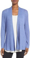Eileen Fisher Tencel ® Lyocell Blend Drape Front Cardigan (Regular & Petite)