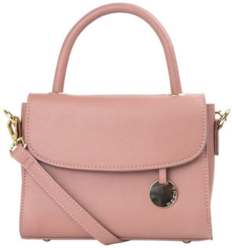 Mocha Jodie Top-Handle Crossbody Bag - Mauve