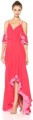 BCBGMAXAZRIA Azria Women's Surplice High-Low Evening Dress