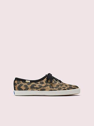Kate Spade Keds X Champion Glitter Leopard Sneakers