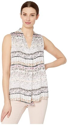 Tribal Sleeveless V-Neck Blouse (Lilac) Women's Clothing