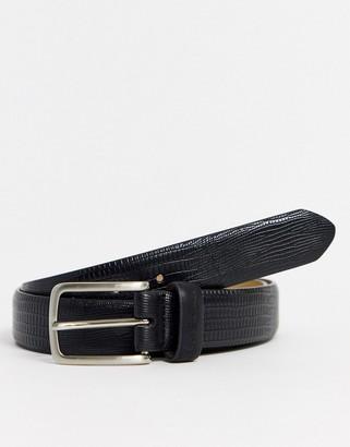 Ben Sherman snake effect belt in black